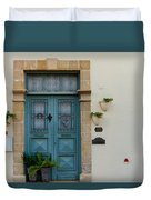 Classic House Entrance In Old Nicosia Duvet Cover