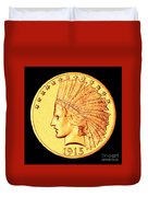 Classic Indian Head Gold Duvet Cover