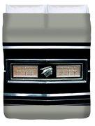 Classic Mercury Grill Emblem Duvet Cover