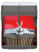 1936 Mg Ta Radiator And Mascot Duvet Cover