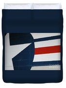 Classic Military Aircraft Abstract- Star 5 Duvet Cover