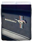 Classic Mustang Logo Closeup Duvet Cover