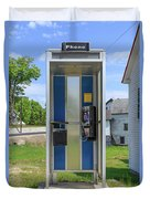 Classic Pay Phone Booth Duvet Cover