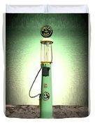 Polly Gasoline Pump And Emblem Duvet Cover