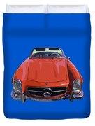 Classic Red Mercedes Benz 300 Sl Convertible Sportscar  Duvet Cover