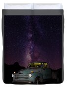 Classic Truck Under The Milky Way Duvet Cover by James Sage