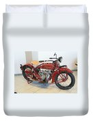 Classic Vintage Indian Motorcycle Red   # Duvet Cover