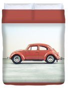 Classic Vw Bug Red Duvet Cover