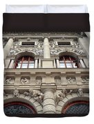 Classical Decorative Building Facade In Vienna Duvet Cover