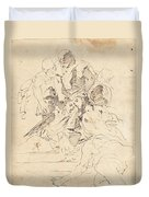 Classical Figures Gathered Around An Urn Duvet Cover