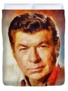 Claude Akins, Vintage Hollywood Actor Duvet Cover