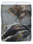 Claude Monet 1840 - 1926 Pheasant, Woodcock And Partridge Duvet Cover