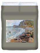 Claude Monet: Etretat, 1883 Duvet Cover