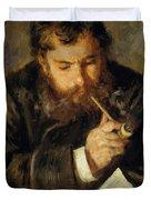 Claude Monet The Reader 1874 Duvet Cover