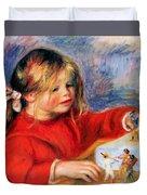 Claude Renoir At Play Sun 1905 Duvet Cover