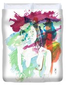 Claudia Nude Fine Art Painting Print In Sensual Sexy Color 4887. Duvet Cover