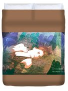 Claudia Nude Fine Art Painting Print In Sensual Sexy Color 4895. Duvet Cover