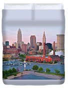 Cle Sunset View From The Shoreway Duvet Cover