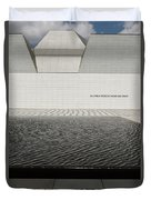Clean Abstract Lines Of The Aga Khan Museum Facade With Black Po Duvet Cover