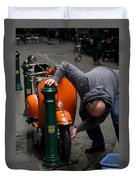 Clean Vespa Duvet Cover by Lee Stickels