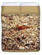 Cleaner Shrimp On Shell Covered Bottom Duvet Cover