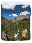 Clear Creek, Flat Top Mountain Duvet Cover