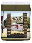 Clear Lake Fire Department Duvet Cover
