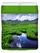 Clear Lake Reflections Duvet Cover