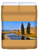 Clear Skies Over Slough Creek Duvet Cover