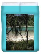 Clear Waters At The Beach Duvet Cover