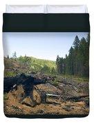 Clearcut Logging Site Duvet Cover