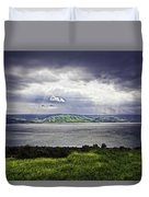 Clearing Over Galilee Duvet Cover