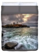 Clearing Storm At Cape Neddick Duvet Cover