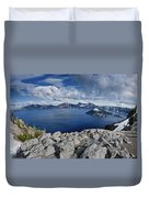 Clearing Storm At Crater Lake Duvet Cover