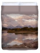 Clearing Storm At Oxbow Bend Duvet Cover