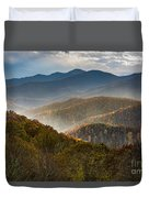 Clearing Storm At Webb Overlook Duvet Cover