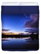 Clearing Storm Over The Anhinga Trail Duvet Cover