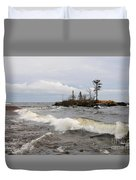 Clearing Storm Over Lake Superior Duvet Cover