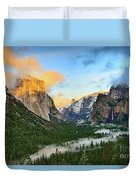 Clearing Storm - View Of Yosemite National Park From Tunnel View. Duvet Cover