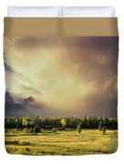 Clearing Summer Storm Grand Tetons National Park Duvet Cover