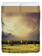 Clearing Summer Storm Grand Tetons National Park Duvet Cover