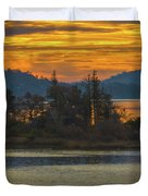 Clearlake Gold Duvet Cover