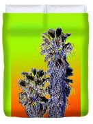 Clearlake Palm Trees Duvet Cover