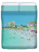 Clearwater Beach Florida Duvet Cover