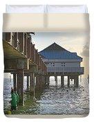Clearwater Beach Pier Duvet Cover