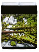 Clearwater Falls And Rapids Duvet Cover