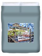 Clearwater Florida Boat Painting Duvet Cover