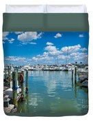 Clearwater Marina Duvet Cover