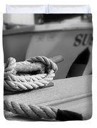 Cleat Hitch Boat Art Duvet Cover