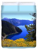 Cleetwood Cove At Crater Lake Duvet Cover